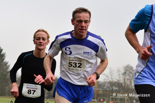 Jan van de Winkel en Julia Daemen in de korte cross
